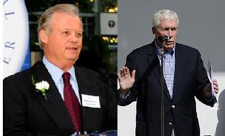 Former Congressman Tony Hall (left) and Congressman Frank Wolf (right) put partisan differences aside to work on several issues.