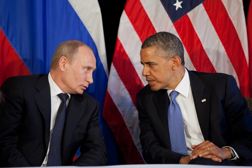 Russian President Vladimir Putin (left) and President Barack Obama.