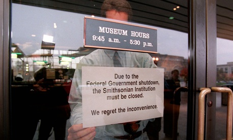 Among other things, The Smithsonian Museums in Washington, DC have closed their doors as a result of the government shutdown.