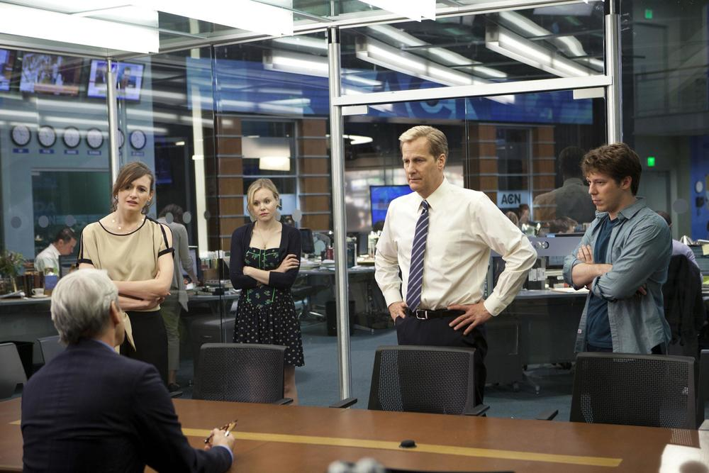 A scene from Aaron Sorkin's The Newsroom.