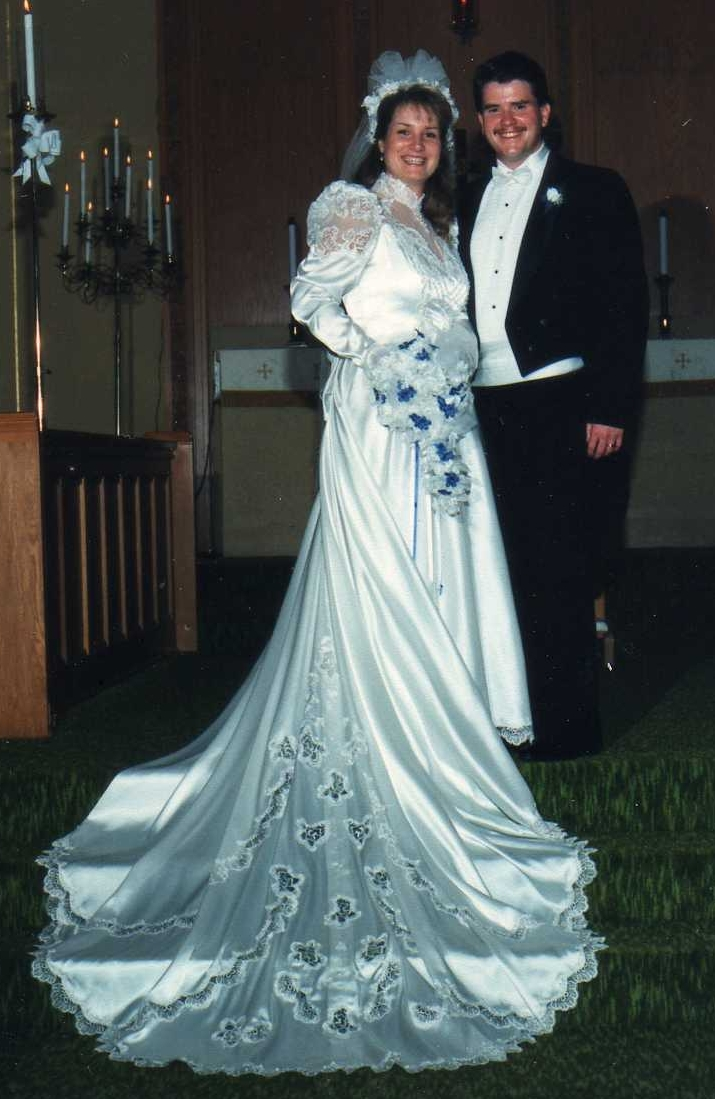 Diane and Bruce Maxwell on their wedding day.