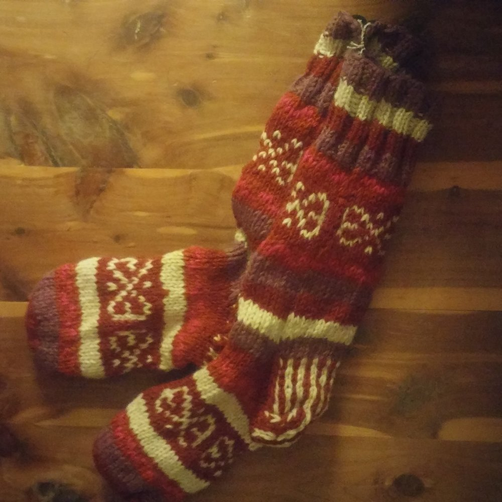 Item to Last   Fleece-Lined Socks from Darn Good Yarn   https://www.darngoodyarn.com/