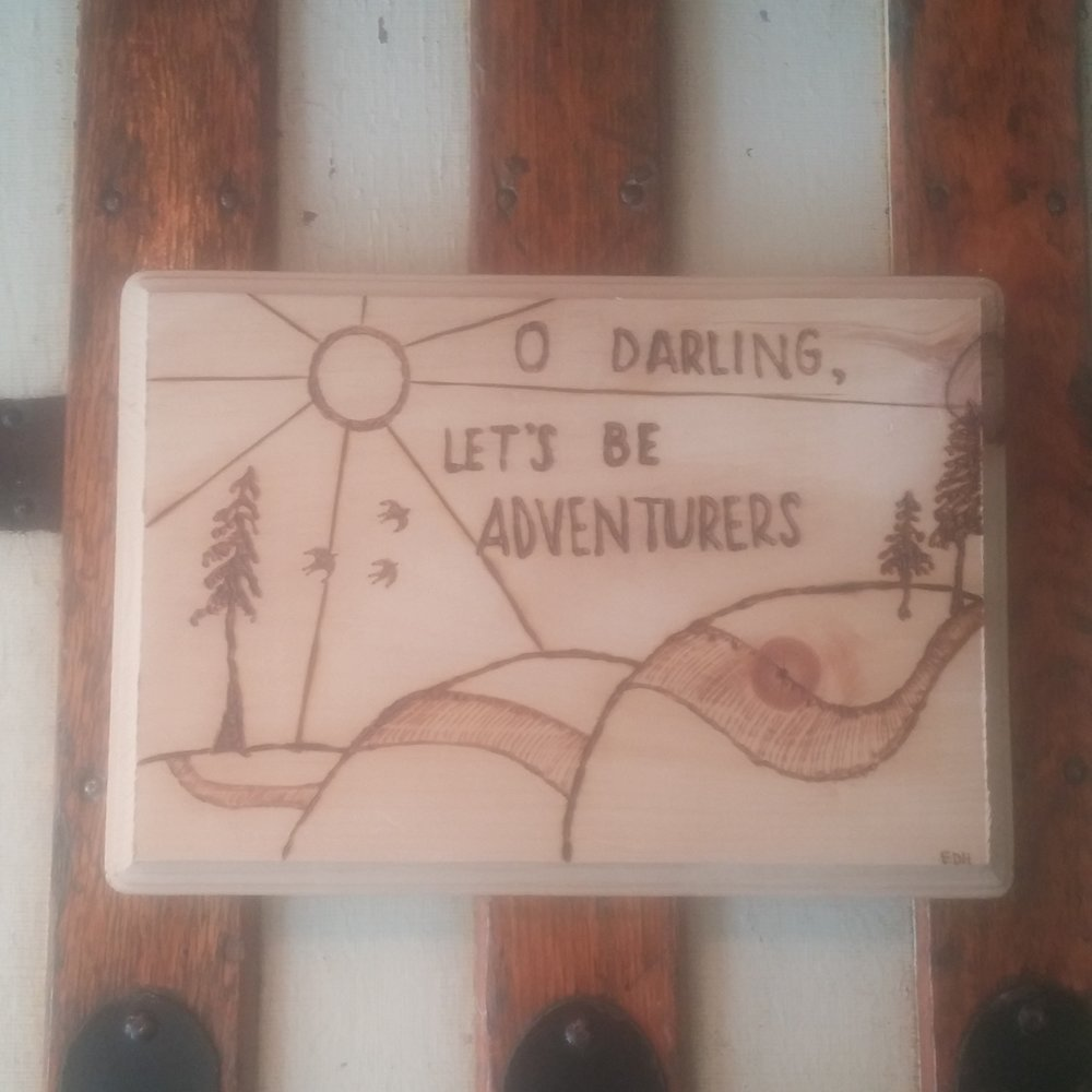 Item to Last   Wood burning by Wander & Whimsy