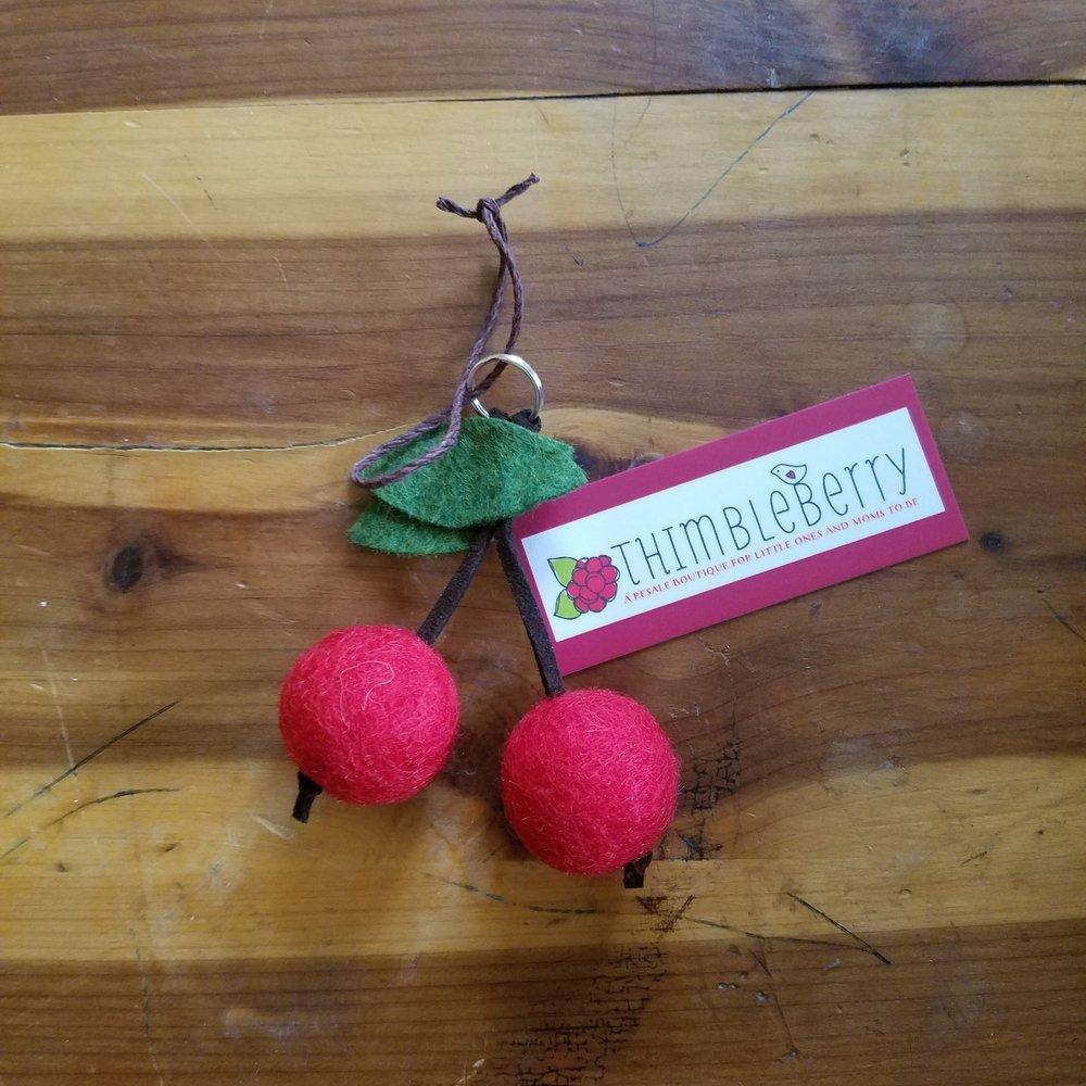 Ezer Pick   Felt Diffuser cherries from Thimbleberry