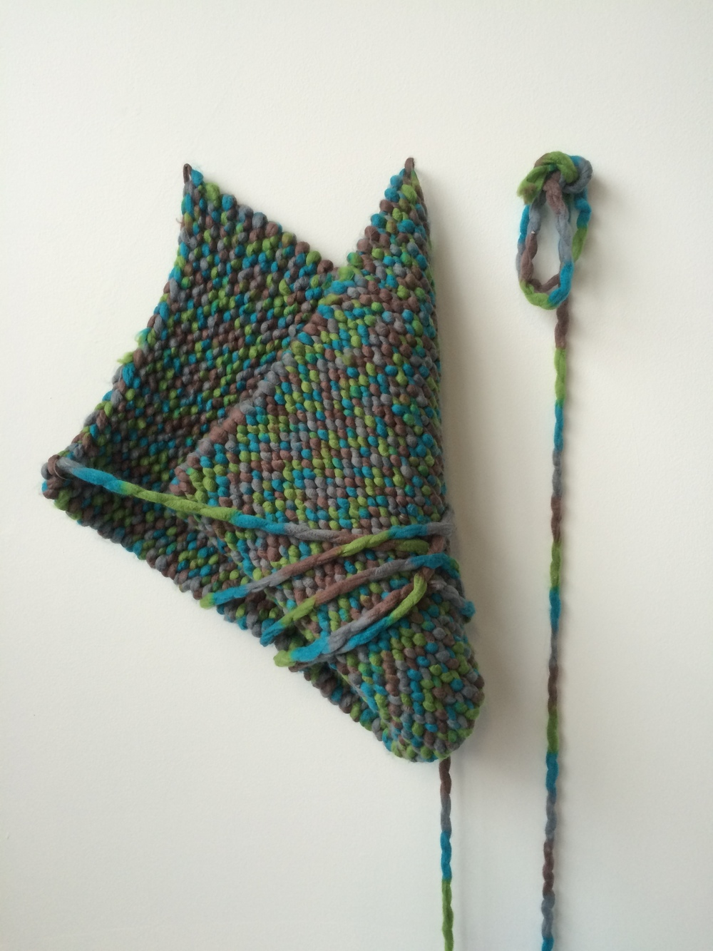 Maude Findlay | 2015 | knitted acrylic yarn | variable dimensions