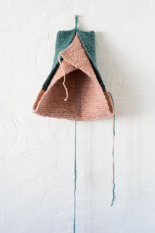 Elyse Keaton | 2014 | hand knitted wool | 25 x 10