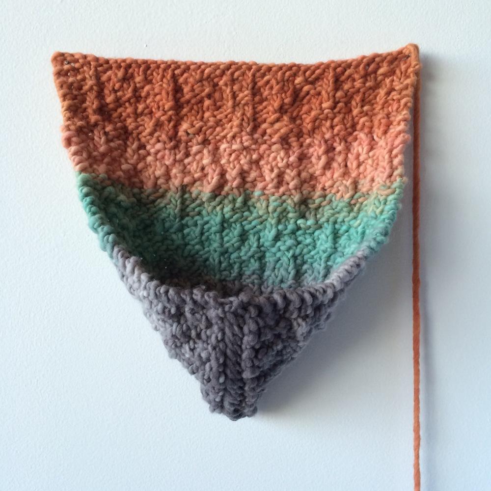 Joanna Kramer | 2015 | hand knitted wool | 12 x 12