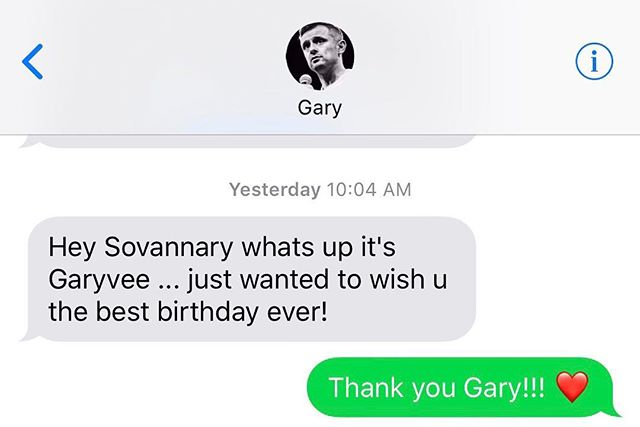 Thank you everyone for the birthday messages and personal texts! I am truly blessed 🙏 *************************************************** And a special thank you to @garyvee & @teamgaryvee , this made my day even more so special. It is a very thoughtful gesture!! I truly appreciate the effort you put into making each person feel connected and the community you have built; a culture of positive mindset where everyone can learn from each other and that no one is too successful to be humble ❤️ #garyvee #teamgaryvee