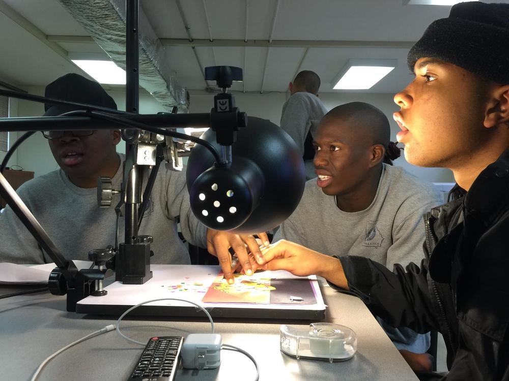 Fort Gordon cadets animating.
