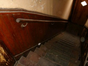 Pilsen historic home: stairs before rehab