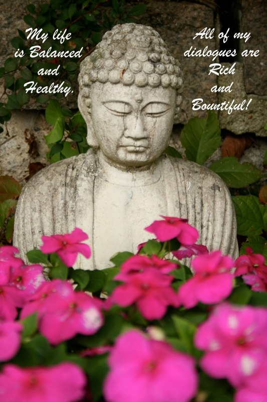 """Buddha in blooms"", Inspired by a dear friend Ogunquit, ME"
