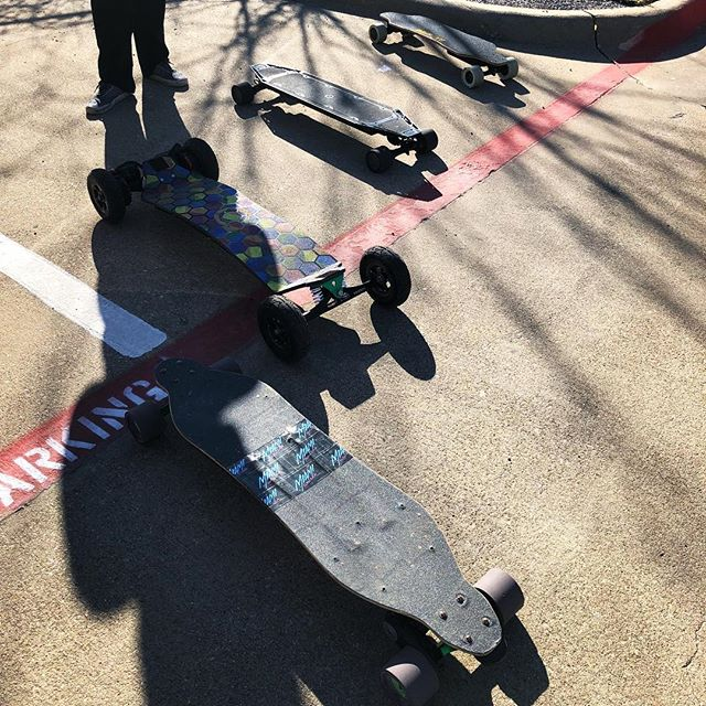Some awesome boards last week for the onewheel meetup!