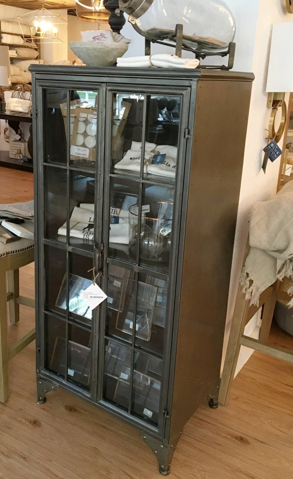 Metal Apothecary Cabinet Short