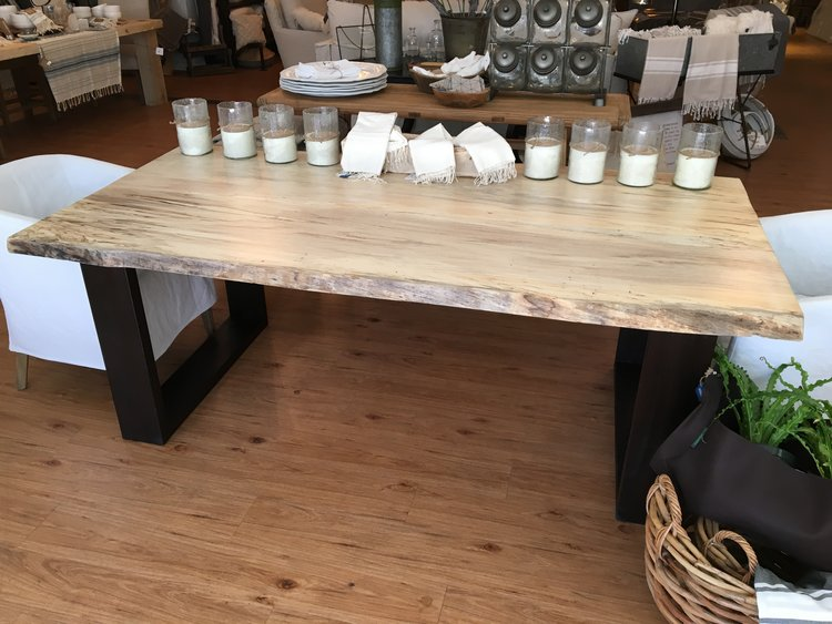 Magnolia table with live edge