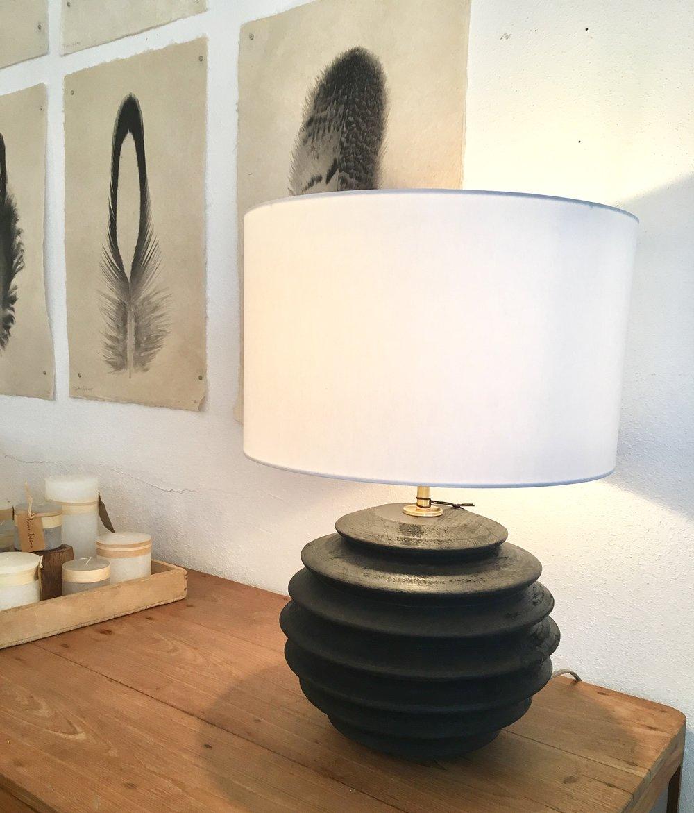 Round Accordion Table Lamp