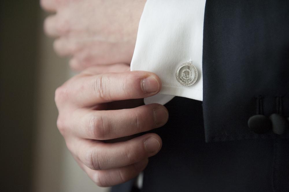 Diamond Cufflinks for Him