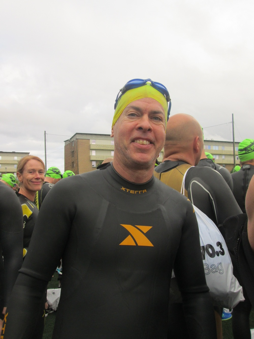 David at the Ironman Norway swim start