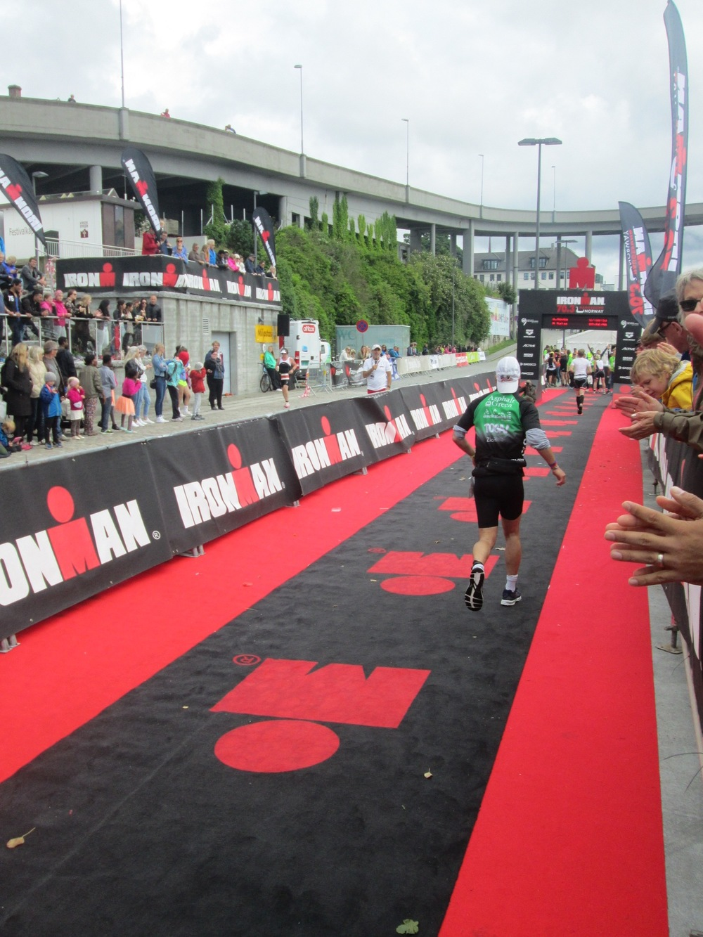Crossing the finish line!