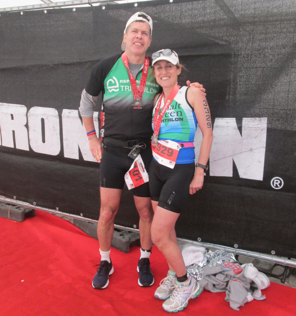 David and Andrea at the Norway 70.3 Triathlon