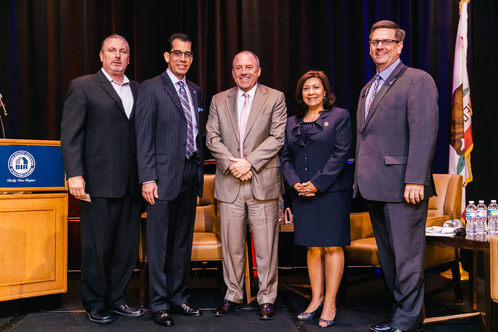 Jim Perry, Beazer Homes, Carlos Rodriguez, BIA, Lake Coulson, NAHB, Congresswoman Norma Torres, Battaglia, CalAtlantic