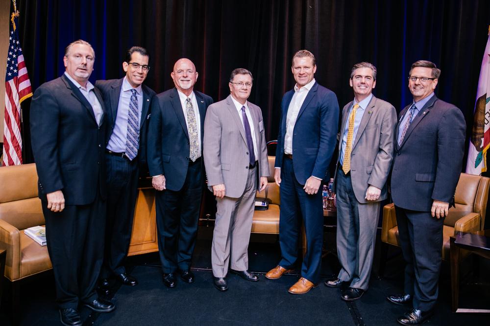 Jim Perry- Beazer, Carlos Rodriguez- BIA, Dennis Michael- Rancho Cucamonga Mayor, Assemblyman Chad Mayes, Assemblyman Marc Steinorth, Michael Battaglia- CalAtlantic
