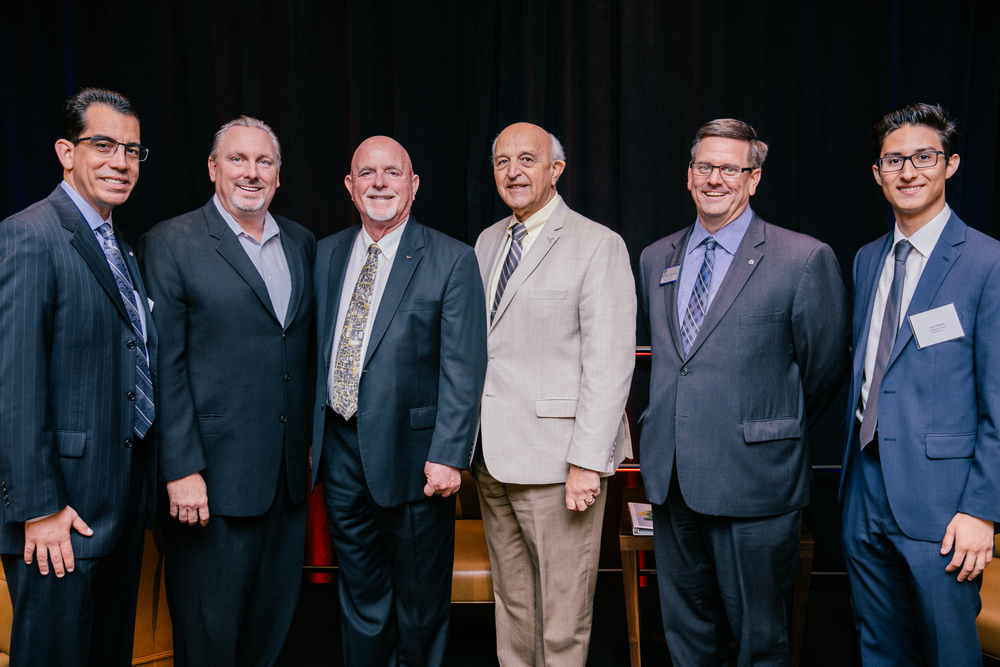 Carlos Rodriguez- BIA, Jim Perry- Beazer, Dennis Michael- Rancho Cucamonga Mayor, Mayor Pro Tem Sam Spagnolo, Michael Battaglia- CalAtlantic