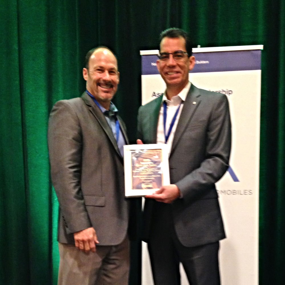 BIABV CEO Carlos Rodriguez, accepts the NAHB Award for Homebuilding Association Excellence- Gov't Affairs