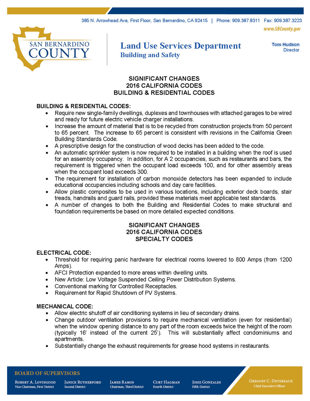 San Bernardino County Land-Use Services Department