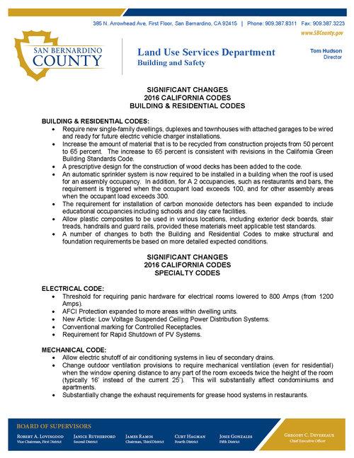 2016 California Building Code Update — BIA Baldy View
