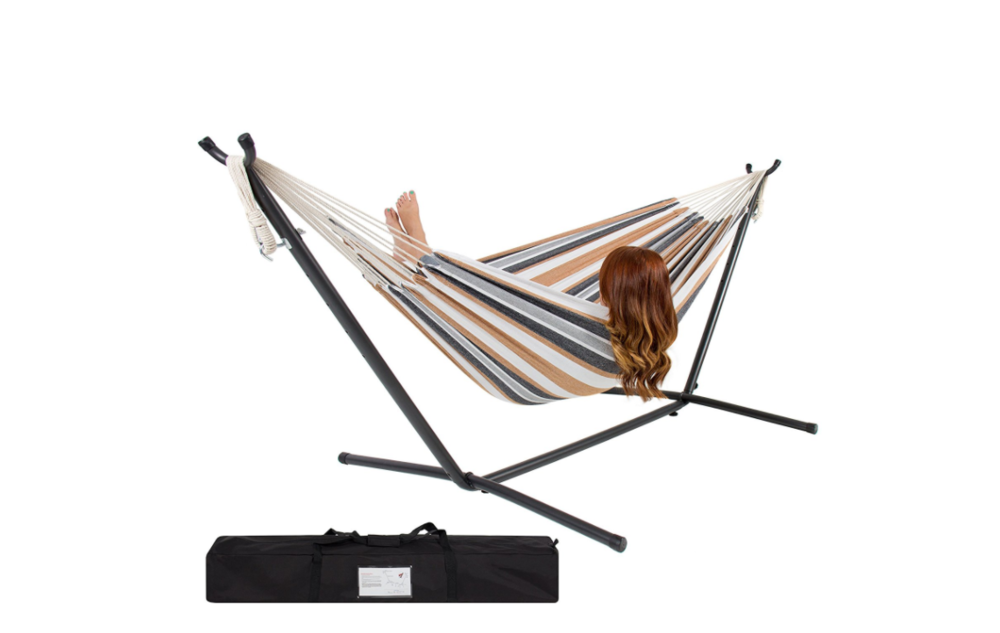 "<span style=""font-size:0.9em;""><b>Double Hammock<br>with Steel Stand</BR></span></b>"