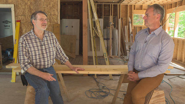 """Norm Abram, of PBS' """"This Old House,"""" with correspondent Mark Strassmann. CBS News"""