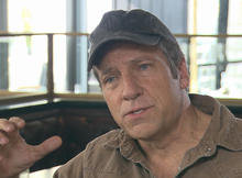 "Mike Rowe, of the series ""Dirty Jobs."""