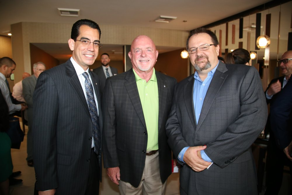 (From left to right)  CEO Carlos Rodriguez, Rancho Cucamonga Mayor L. Dennis Michael, BIABV President Phil Burum
