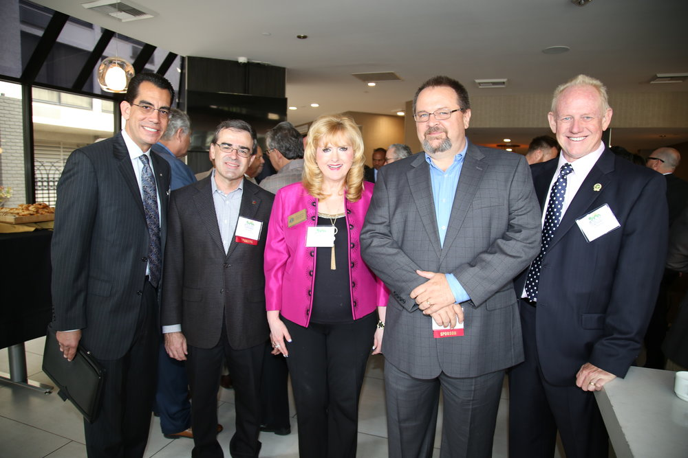 (From left to right) CEO Carlos Rodriguez, Montclair Councilman John Dutrey, Upland Mayor Pro-tem Carol Timm, BIABV President Phil Burum, Upland City Councilmember Sid Robinson