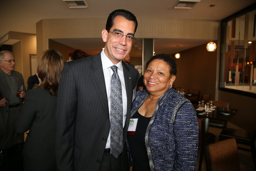 CEO Carlos Rodriguez and Rialto Mayor Deborah Robertson