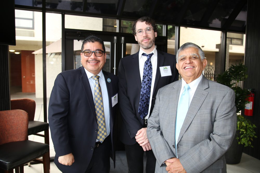 (From left to right) Social Justice and California Housing Crisis panelists Frank Williams, Brian Hanlon, and John Gamboa.