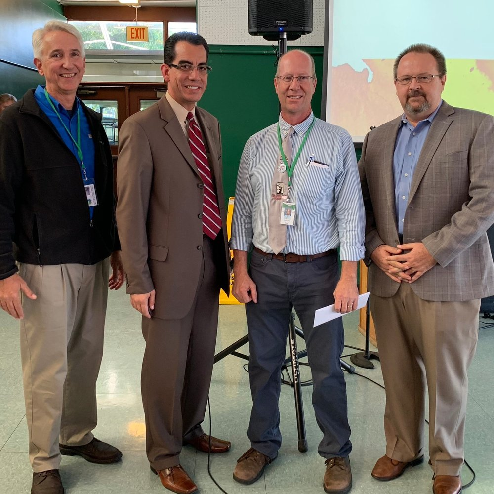 Scott Sypkens (Asst. Superintendent), Carlos Rodriguez (BIA CEO), Phil Burum (BIA President), Jason Craig (BITA Instructor)