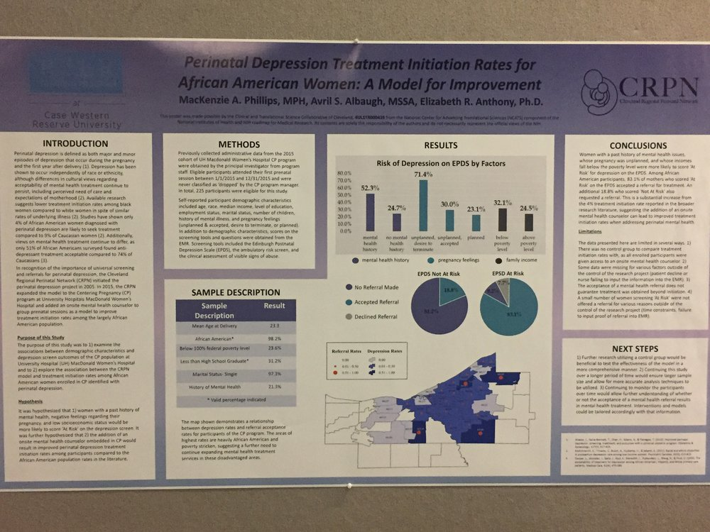 The Cleveland Regional Perinatal Network, a partner of MomsFirst also presented a poster featuring their successes with connecting women to behavioral health services.