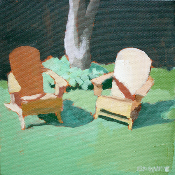 Adirondacks 2   2012 oil on canvas 8 x 8""
