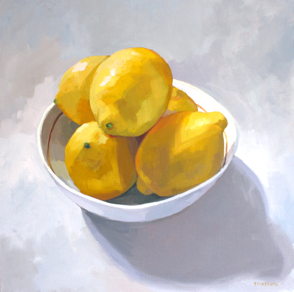 Bowl of Lemons   2014 oil on canvas 20 x 20""