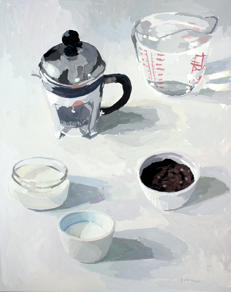 Coffee 2   2012 gouache on paper 8x10""