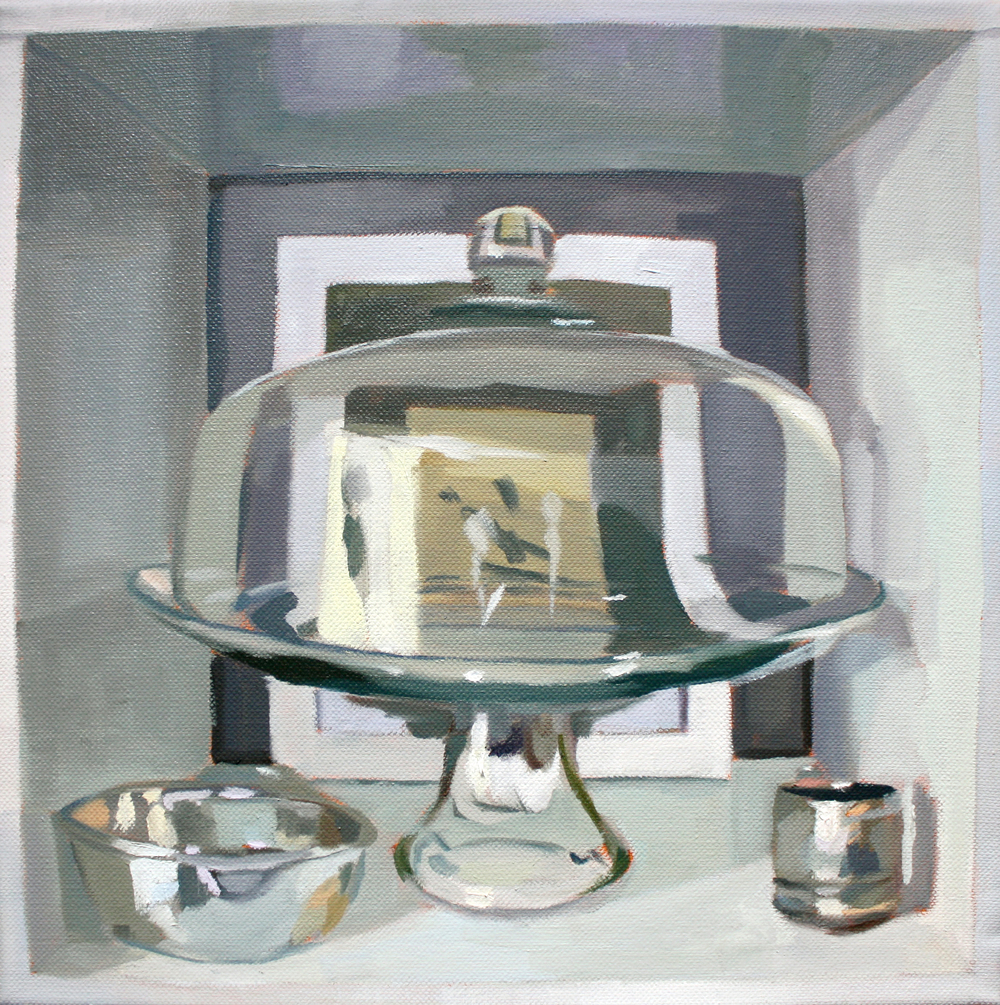 Cakestand   2012 oil on canvas 12 x 12""