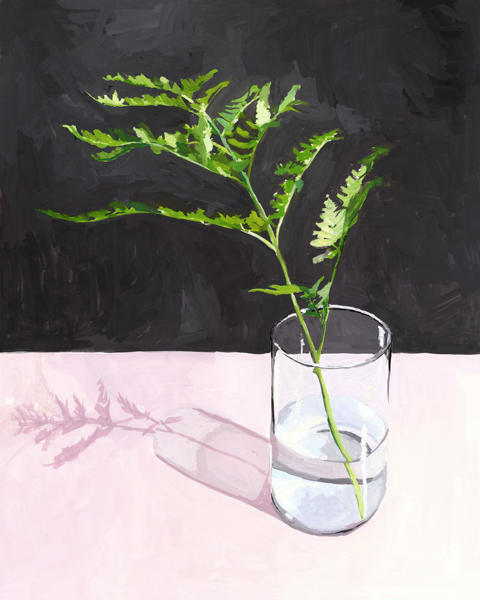 """Fern   2014 gouache on paper 8 x 10""""  prints available"""