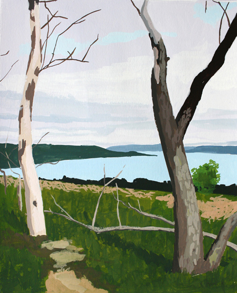 Sleeping Bear Dunes 2   2012 gouache on paper 8 x 10""