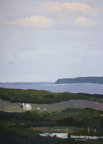 Sleeping Bear Dunes   2012 gouache on paper 5 x 7""