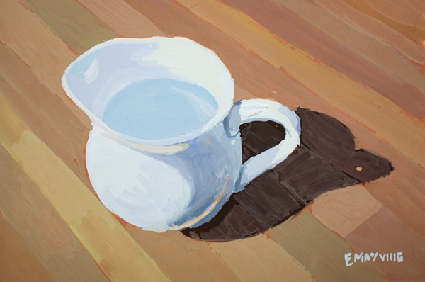 White Pitcher   2012 gouache on paper 4 x 6""