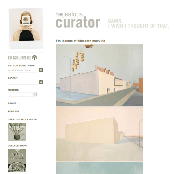 """I'm Jealous of Elizabeth Mayville"",    Thejealouscurator.com  , May 11 2012"