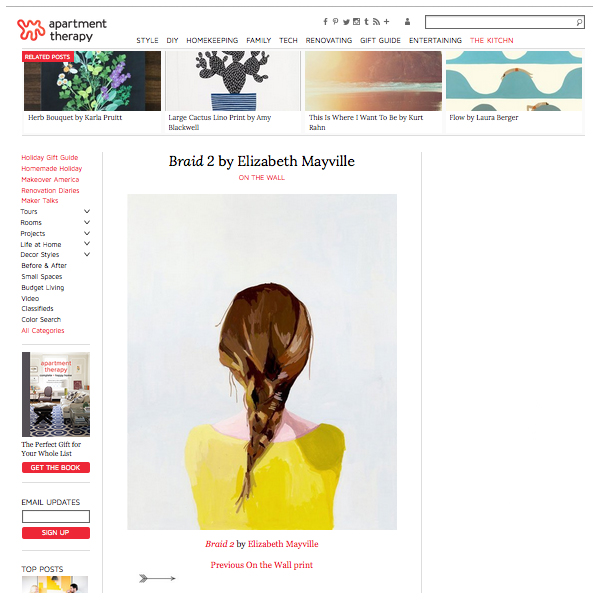 """Braid 2 by Elizabeth Mayville"",  apartmenttherapy.com , January 11 2013"