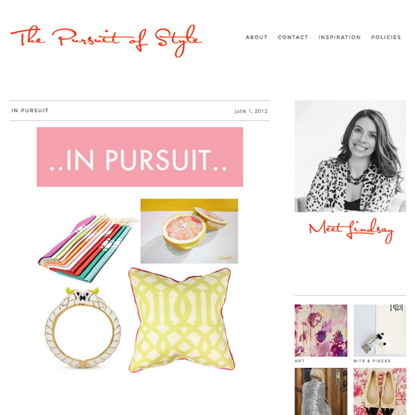 """In Pursuit"", Lindsay Souza,  Thepursuitofstyle.com , June 1 2012"