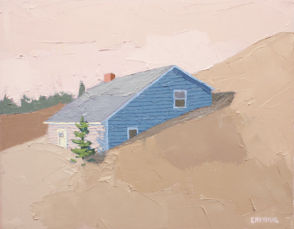 Dune House 2   2017 oil on canvas 11 x 14""
